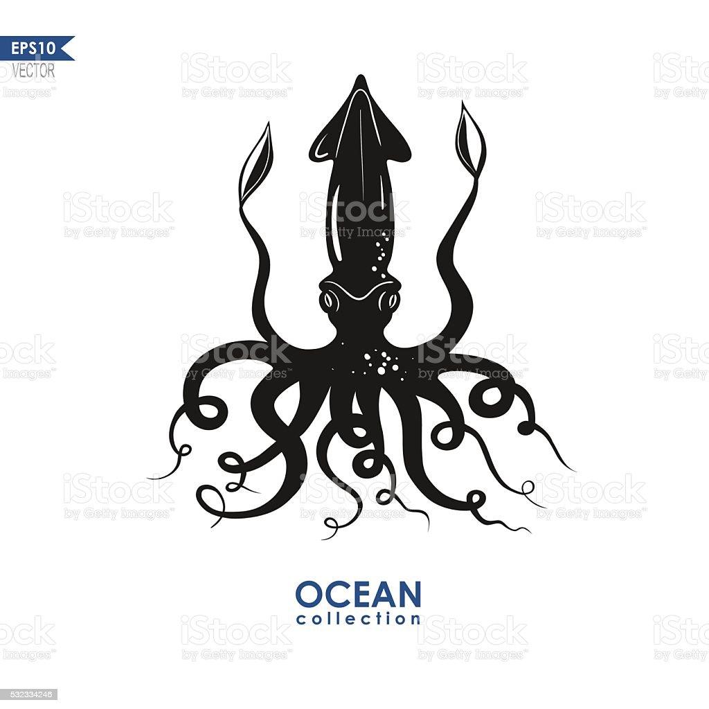 calamari illustration vector art illustration