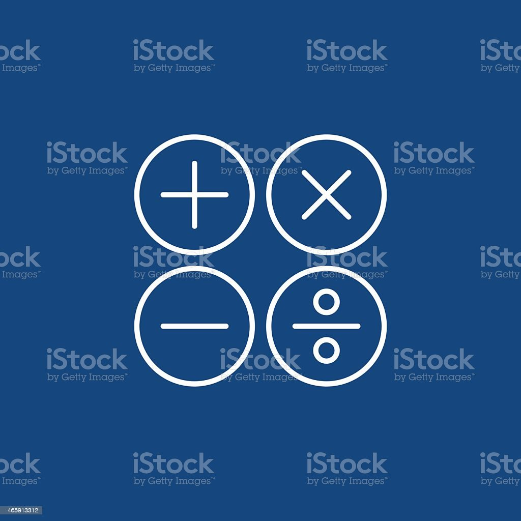 calculation icon vector art illustration