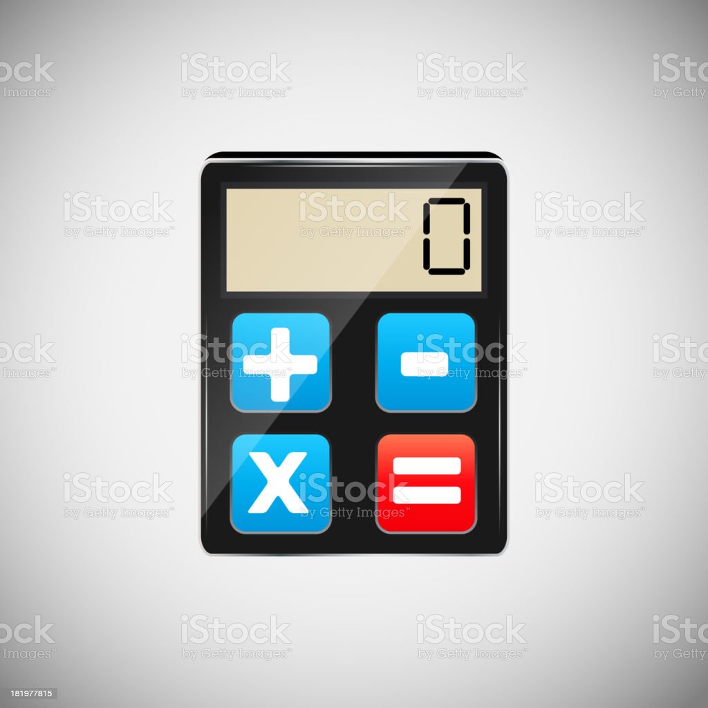 Calculator application icons vector illustration royalty-free stock vector art