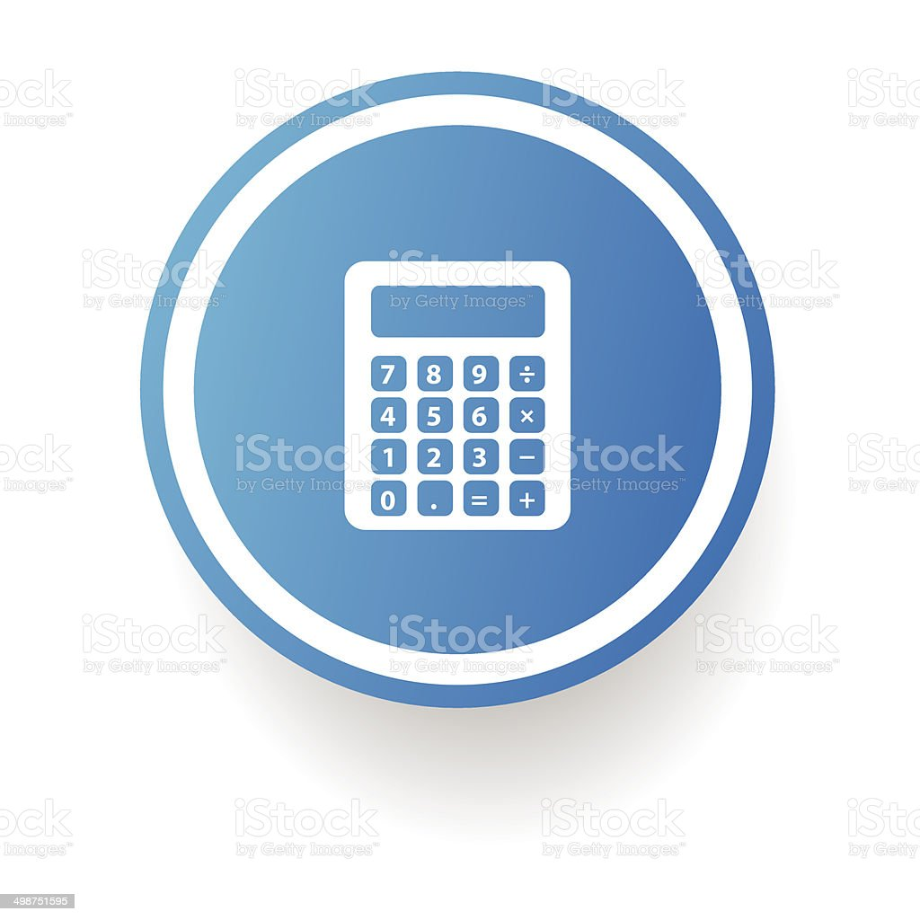 Calculator button,vector vector art illustration