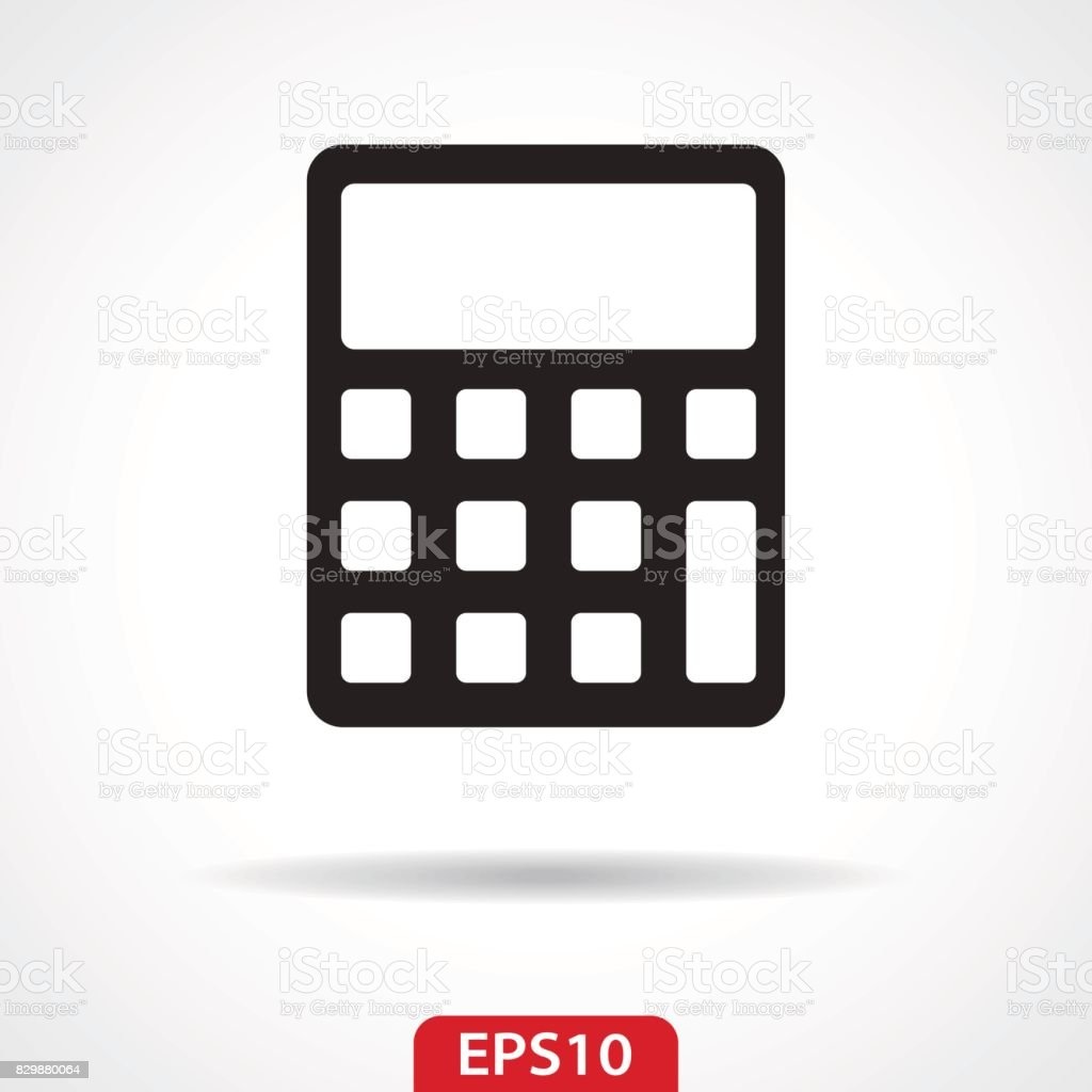 Calculator Flat Icon - Vector Illustration vector art illustration