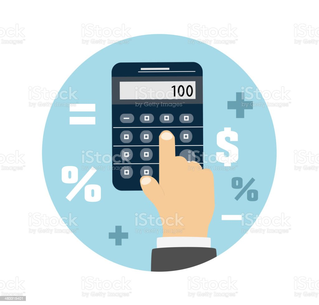 Calculator icon. Business concept with mathematics vector art illustration