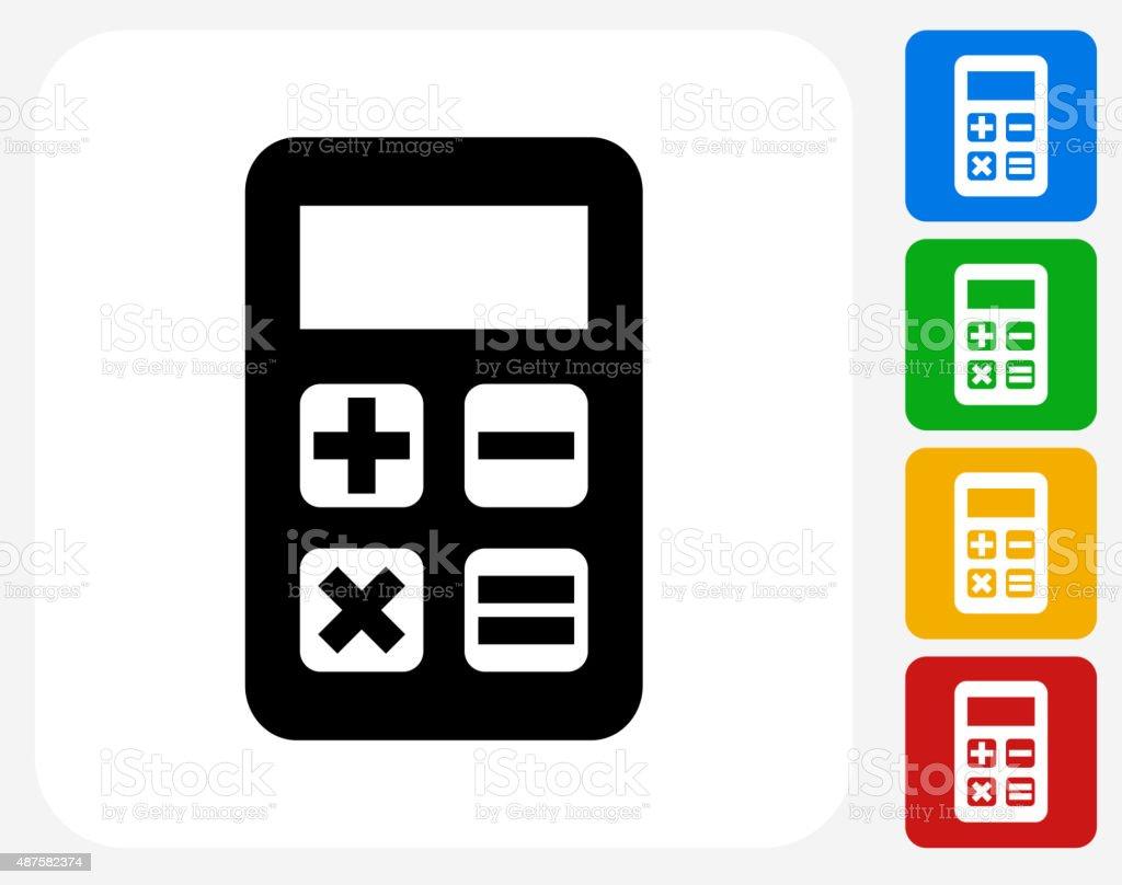 Calculator Icon Flat Graphic Design vector art illustration