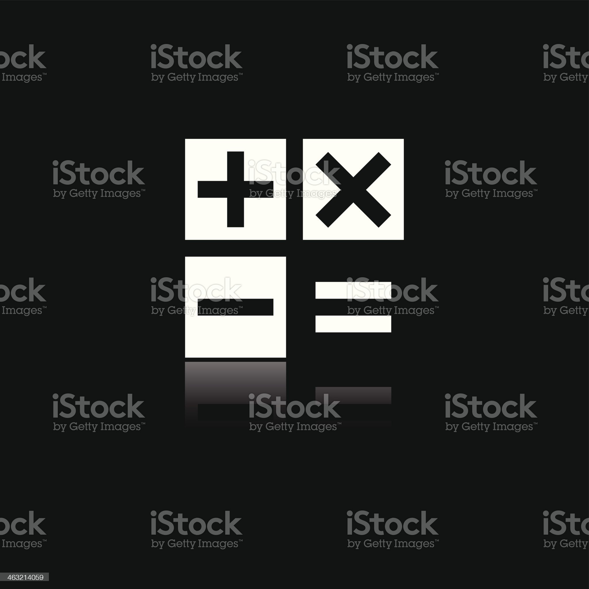 Calculator icon royalty-free stock vector art
