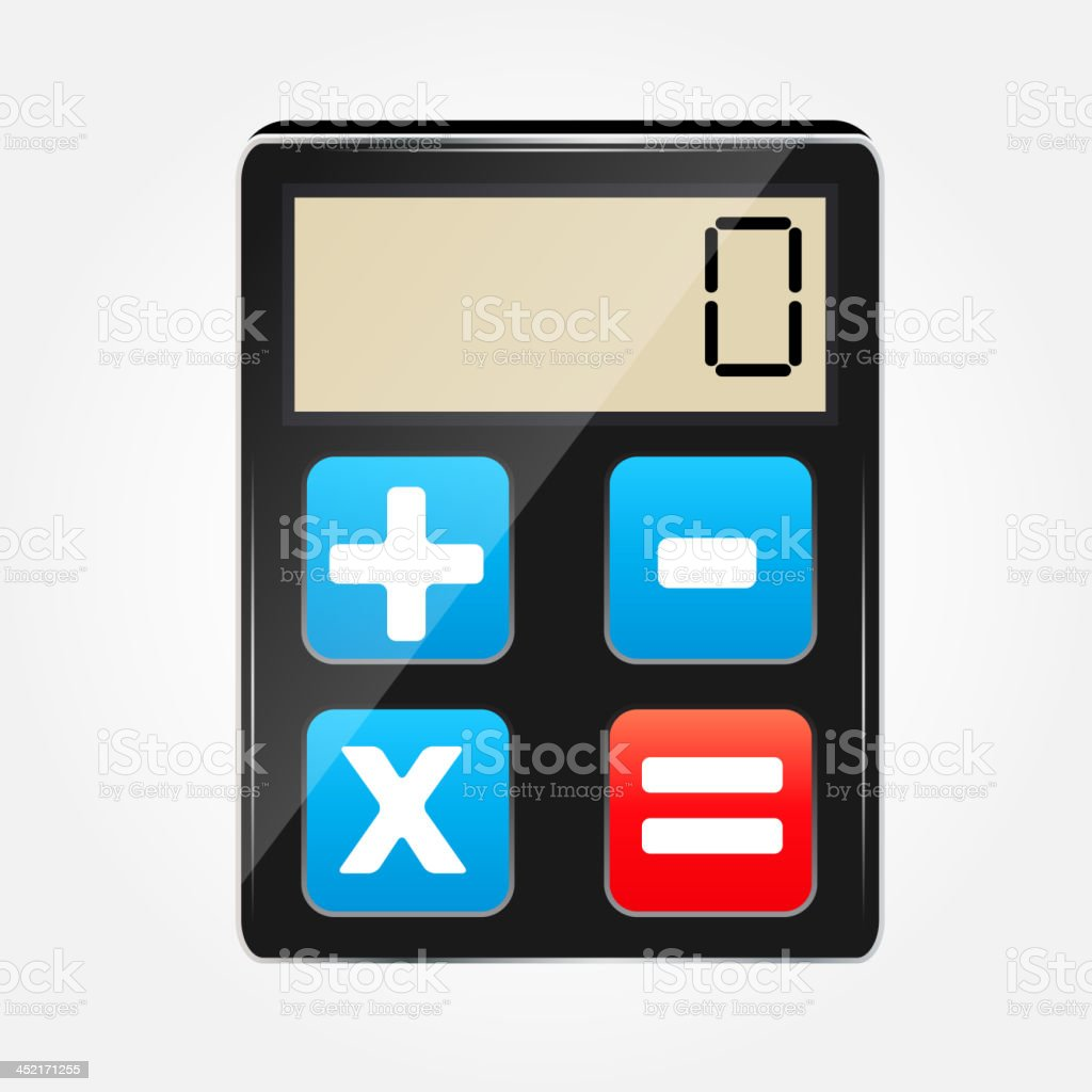 calculator icon vector illustration royalty-free stock vector art