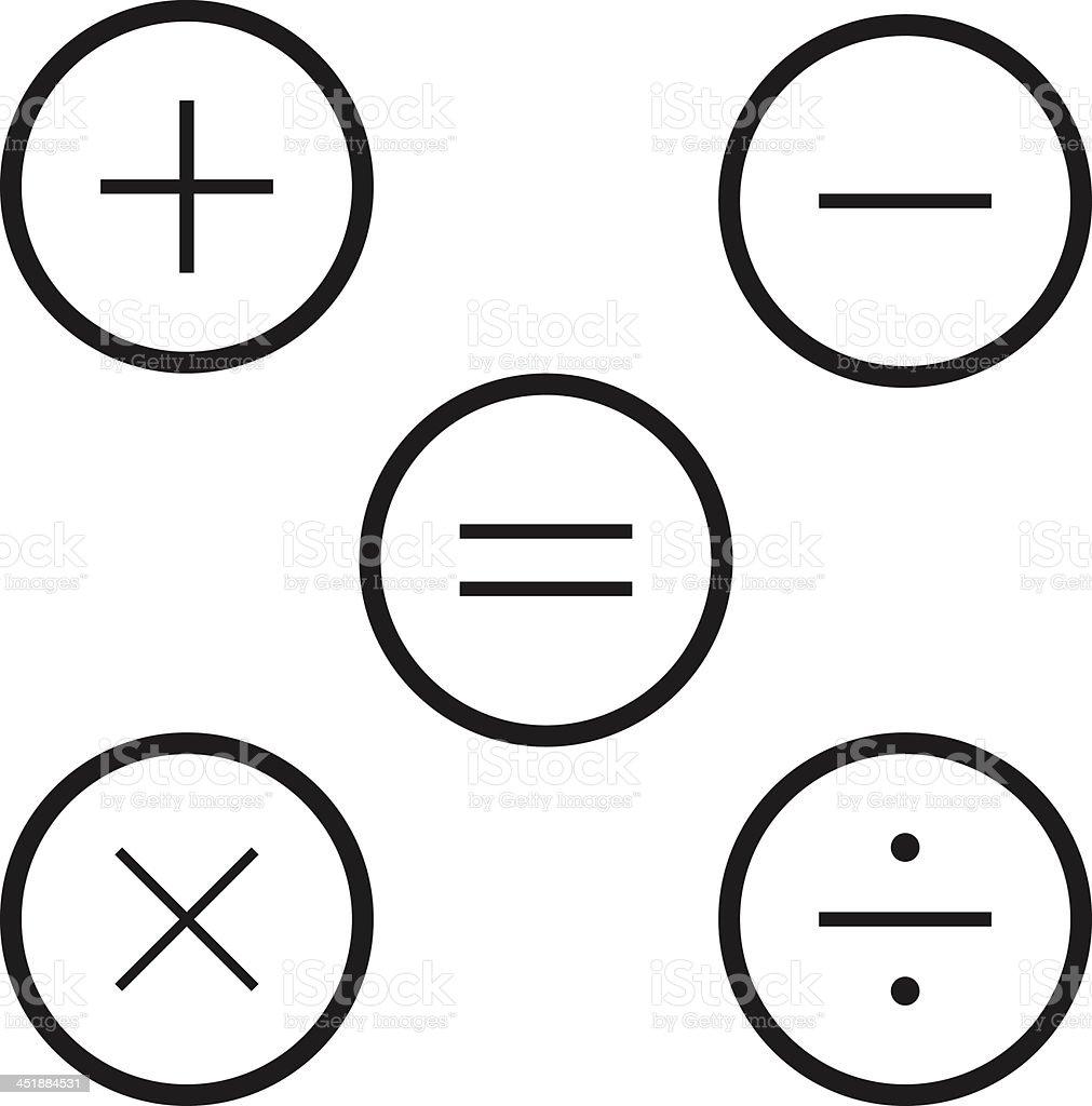 Calculator icons vector art illustration