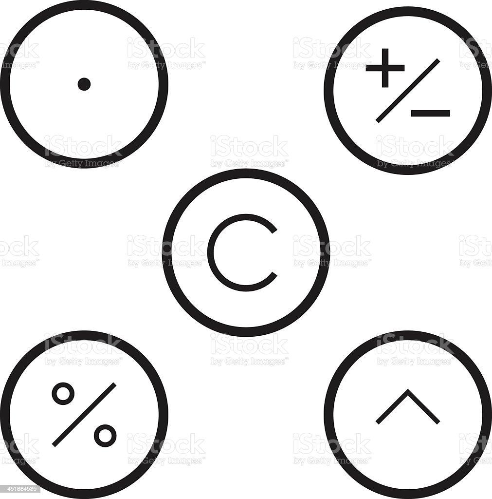 Calculator icons royalty-free stock vector art