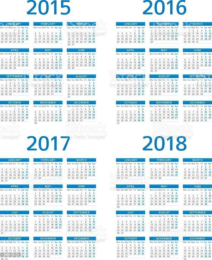 Calendar 2015 2016 2017 208