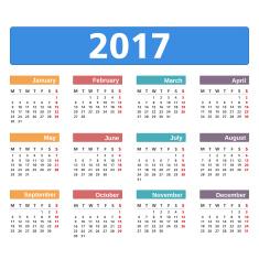 Calendar 2017 vector art