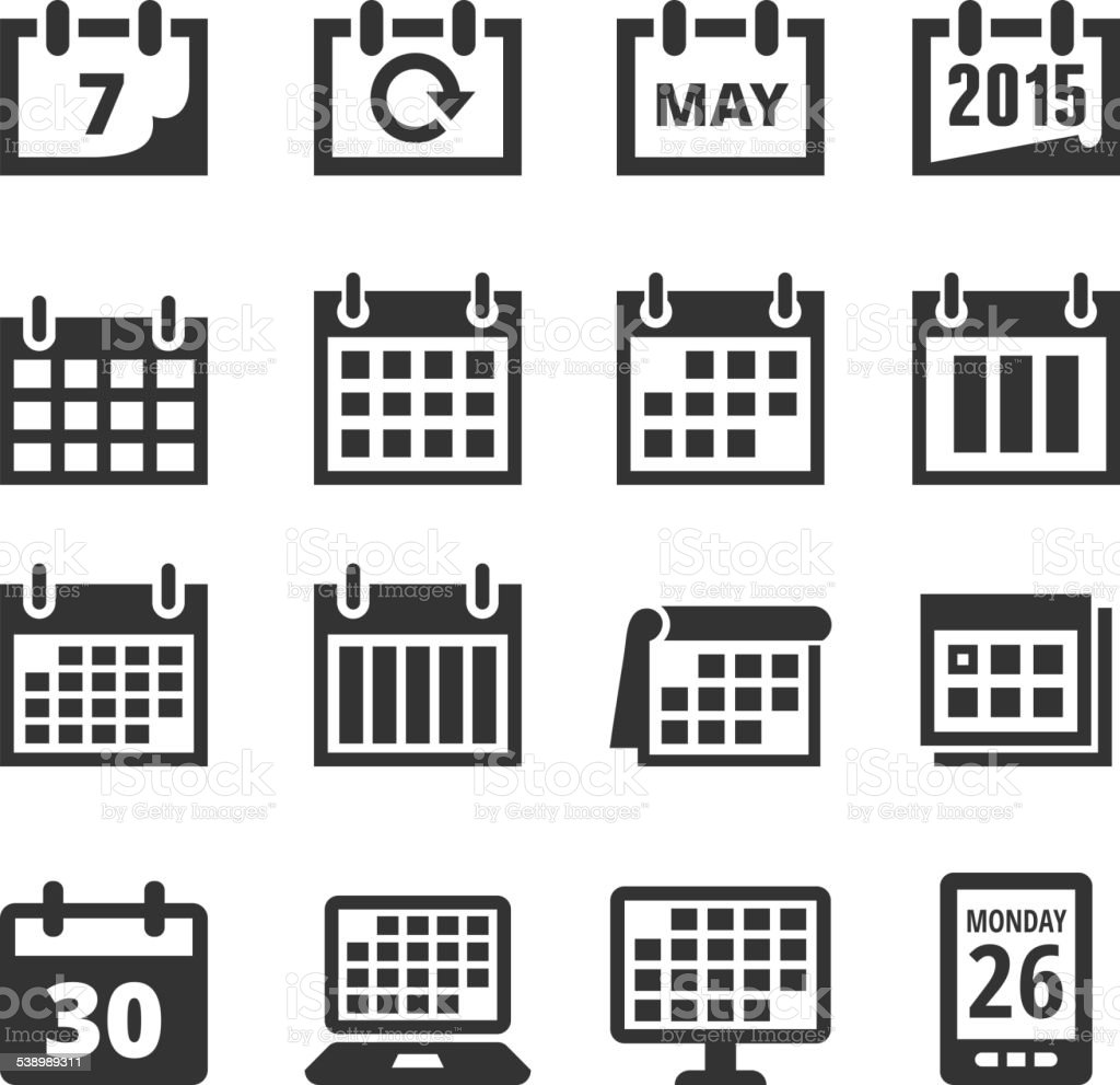 Calendar Illustration Free : Calendar black and white royalty free vector interface