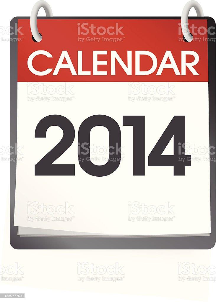 Calendar Blank 2014 royalty-free stock vector art