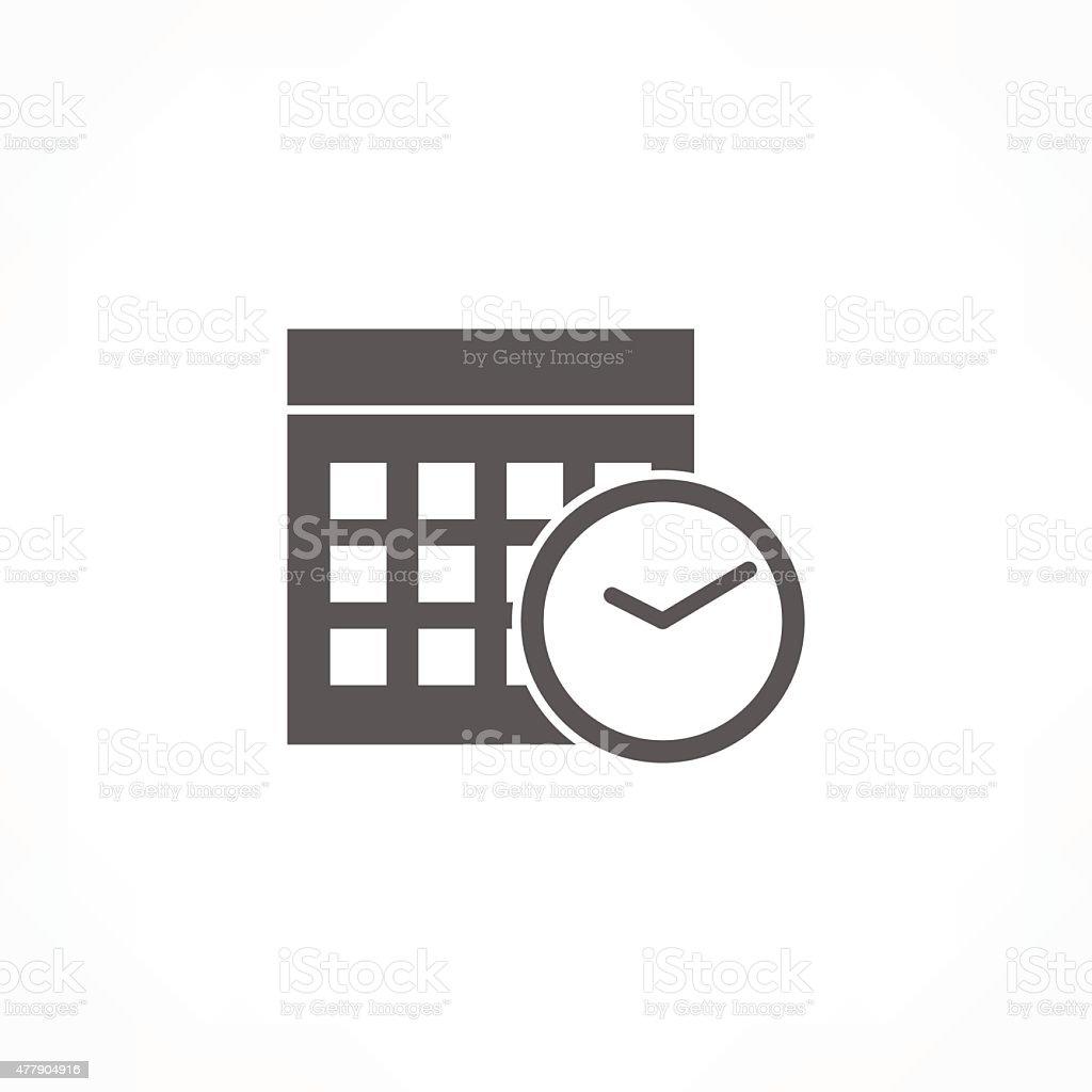 calendar & clock icon vector art illustration