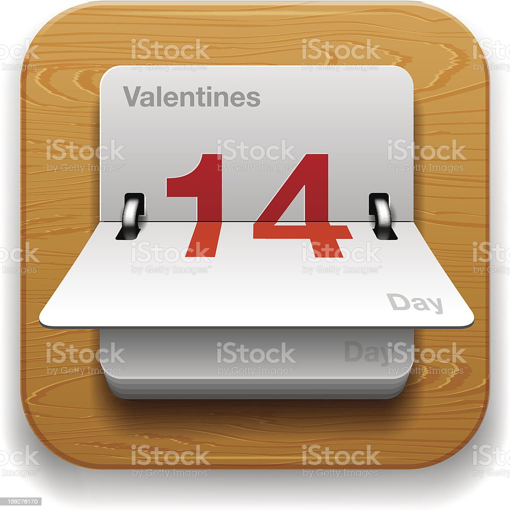 Calendar Date icon royalty-free stock vector art
