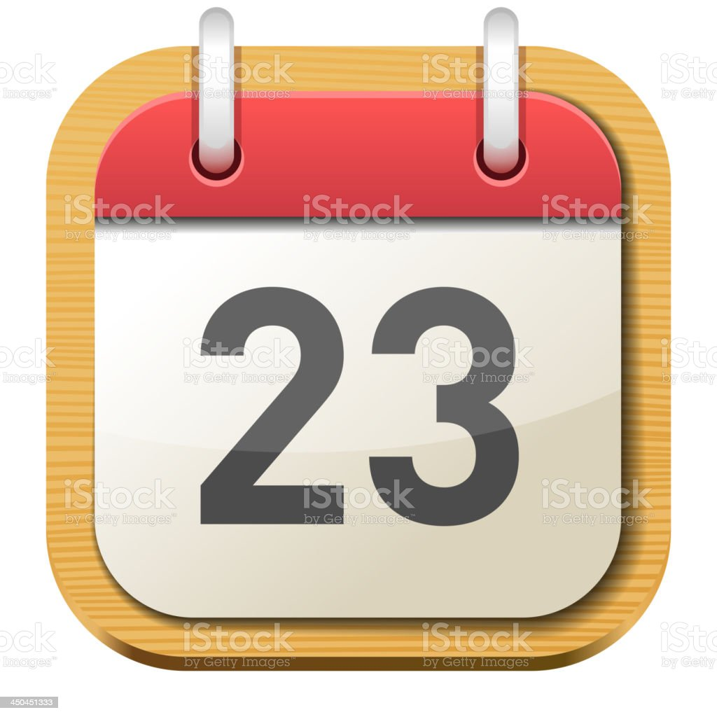 Calendar Date royalty-free stock vector art
