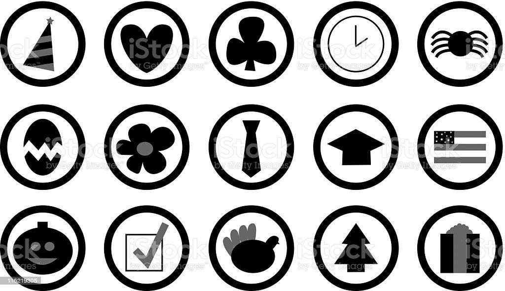 Calendar Events Icon Set (vector) royalty-free stock vector art