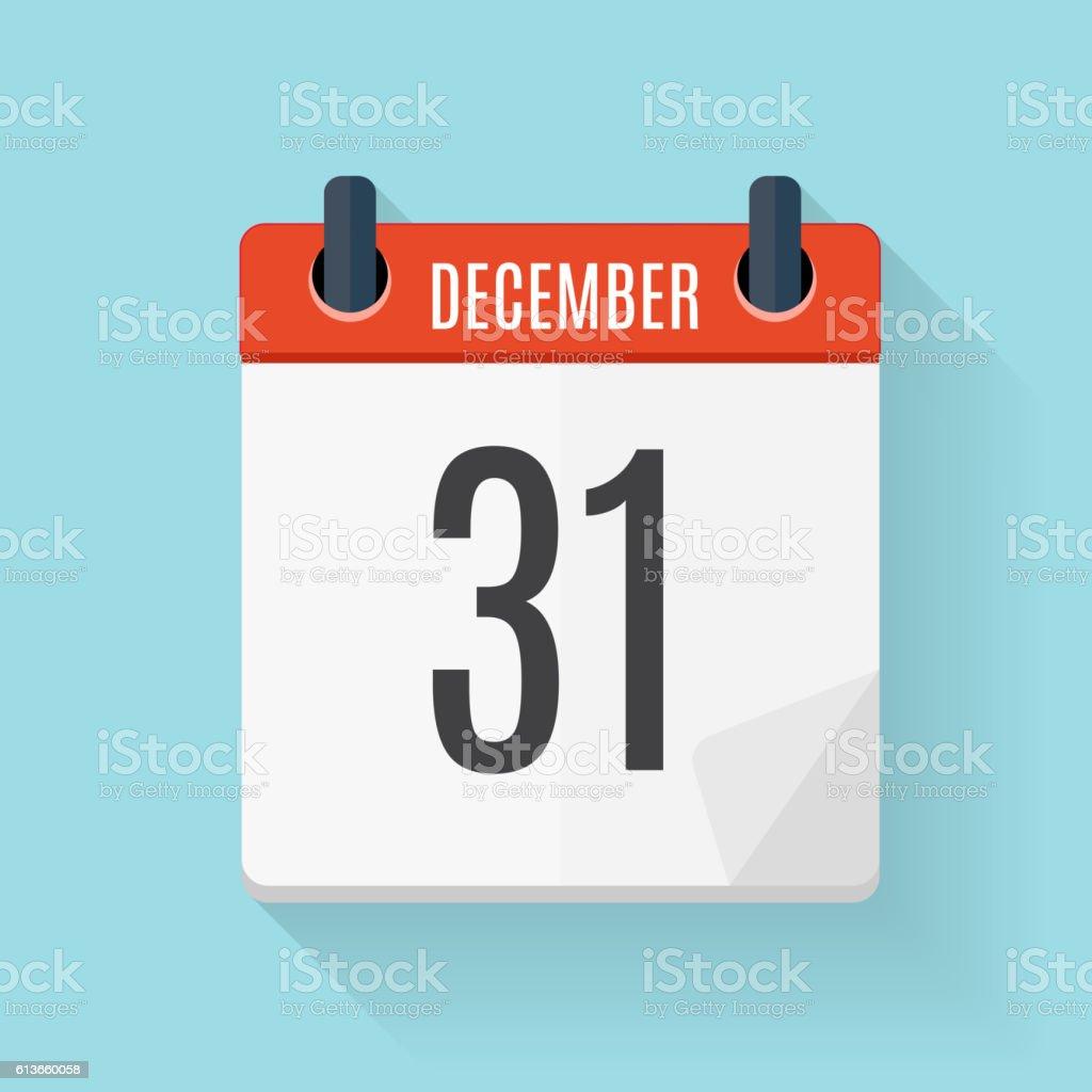 Calendar Flat Daily Icon. Vector Illustration Emblem. Element of vector art illustration