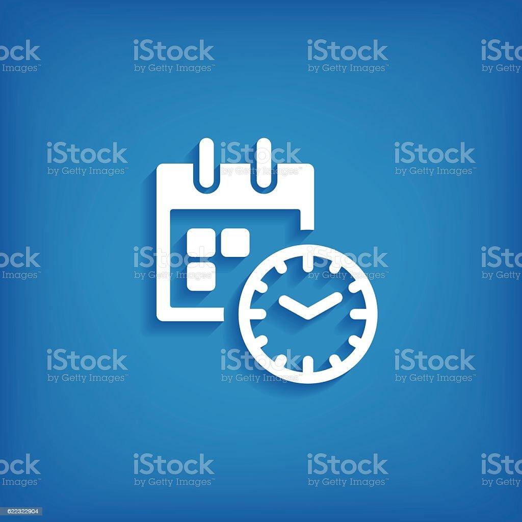 Calendar Flat Icon vector art illustration