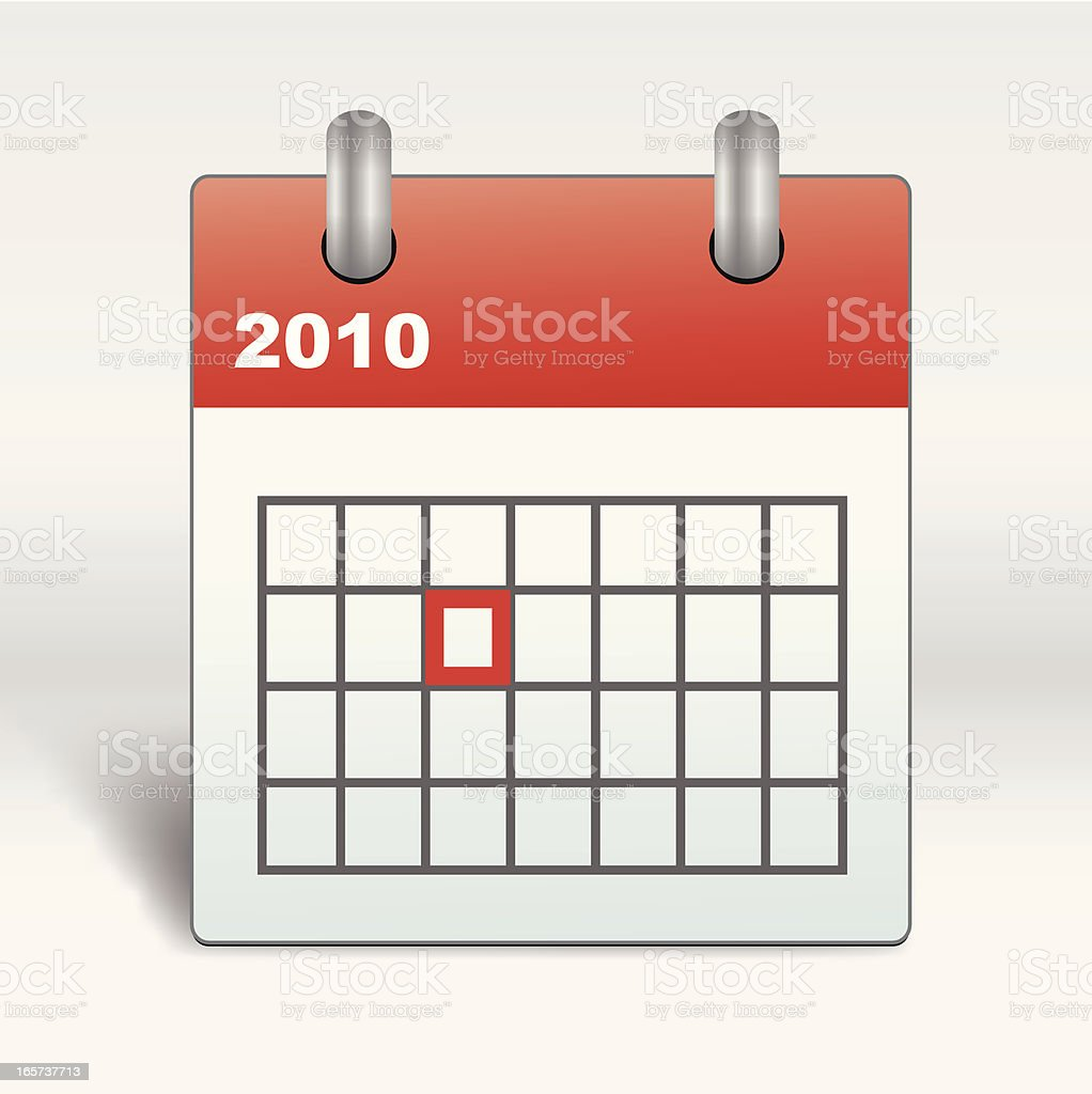 Calendar Icon 2010 royalty-free stock vector art