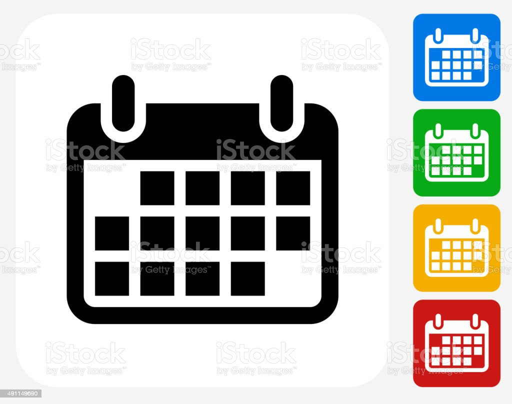Calendar Icon Flat Graphic Design vector art illustration
