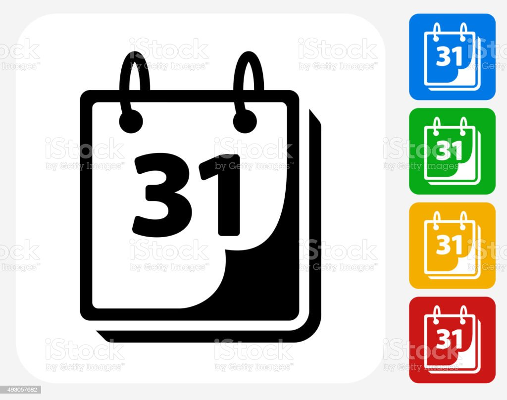 Calendar Icon Flat Graphic Design vector art illustration