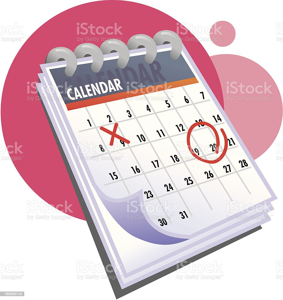Icono de calendario de idea - ilustración de arte vectorial