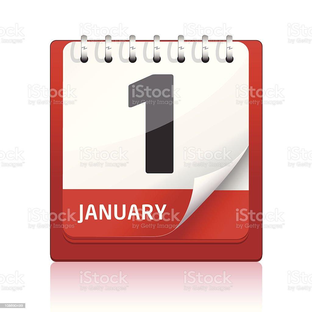 Calendar Icon | Red vector art illustration