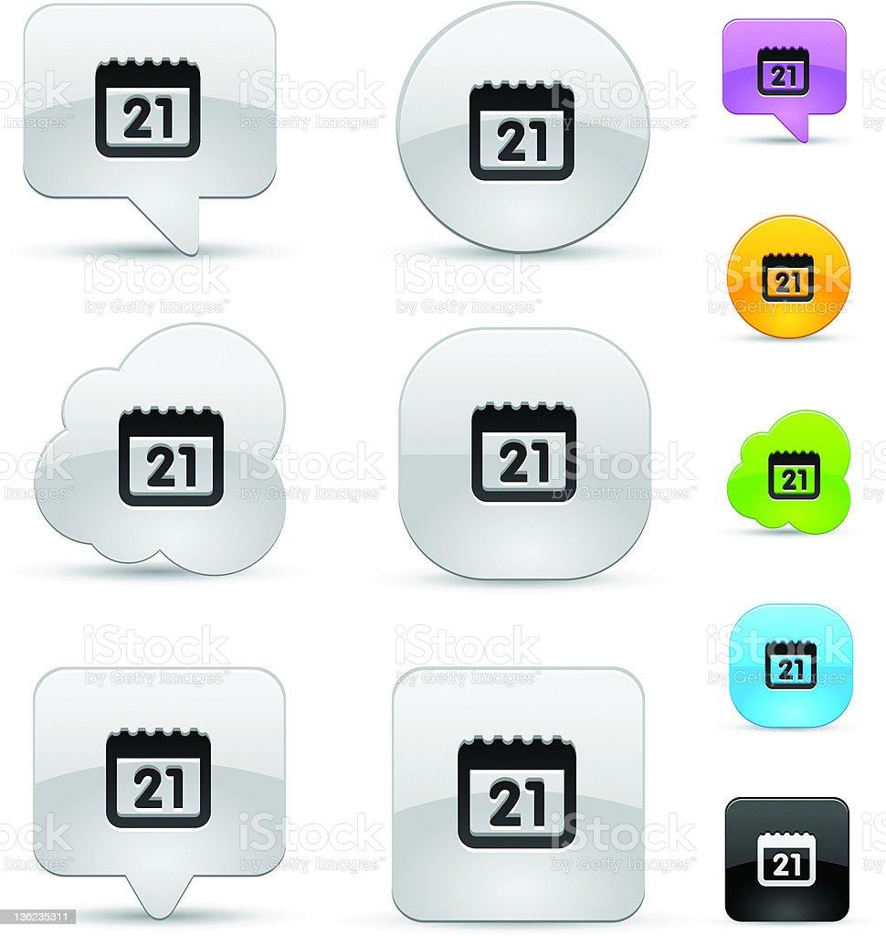 Calendar icon set royalty-free stock vector art