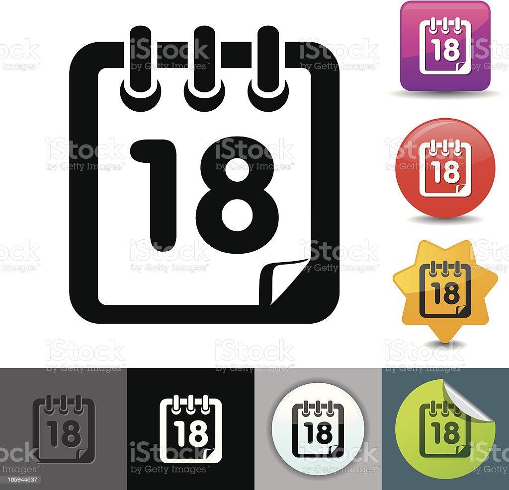 Calendar icon | solicosi series royalty-free stock vector art