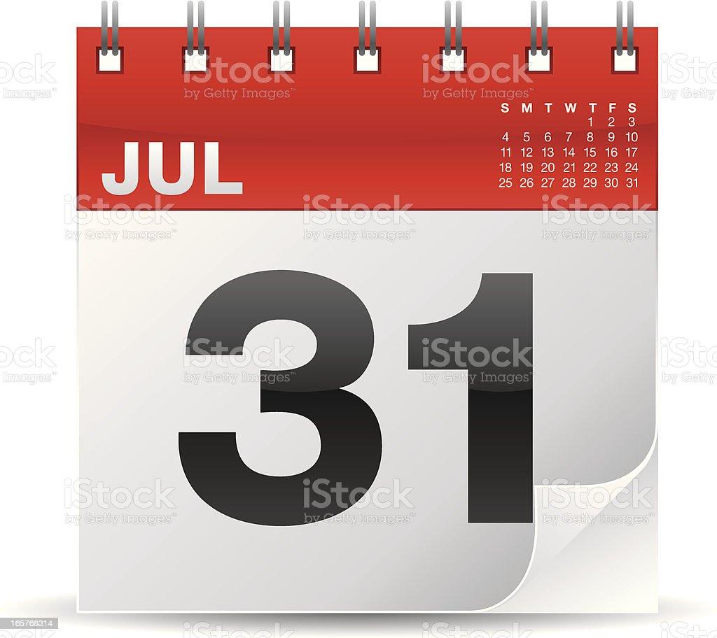 Calendar icon vector art illustration