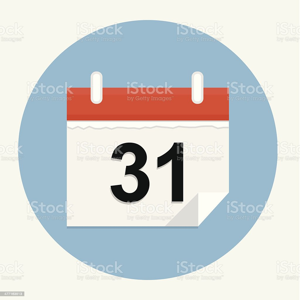 Calendar icon royalty-free stock vector art
