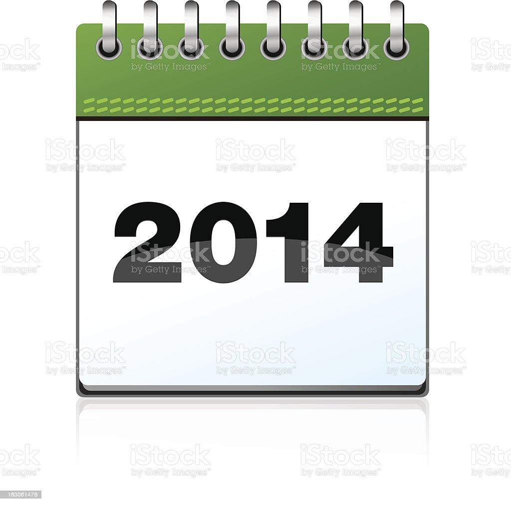Calendar illustration 2014 royalty-free stock vector art
