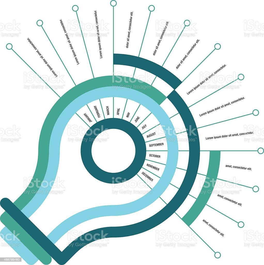 Calendar Infographic vector art illustration