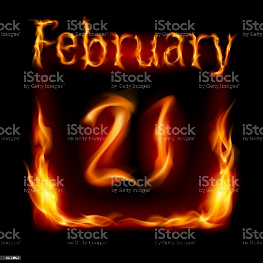 Calendar of Fire royalty-free stock vector art