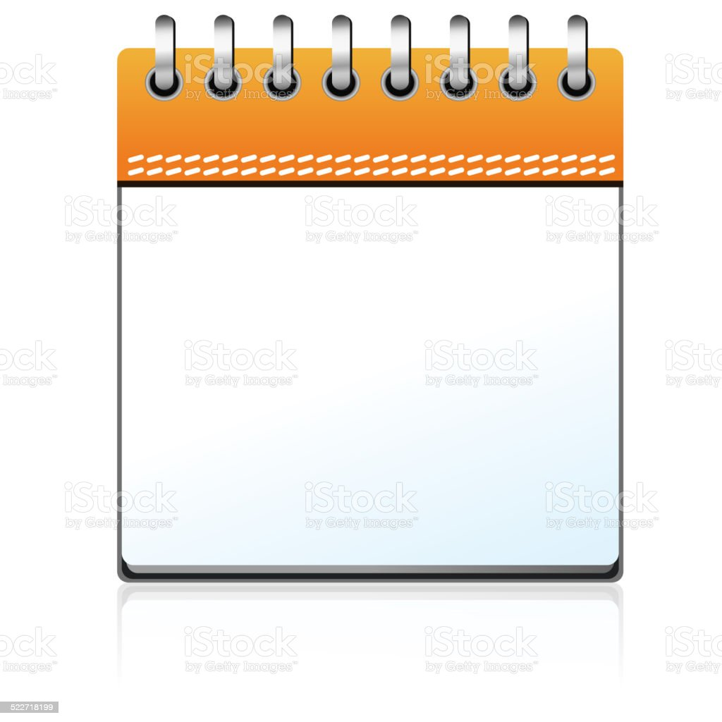 Weekly Calendar Vector : Calendar orange blank stock vector art istock