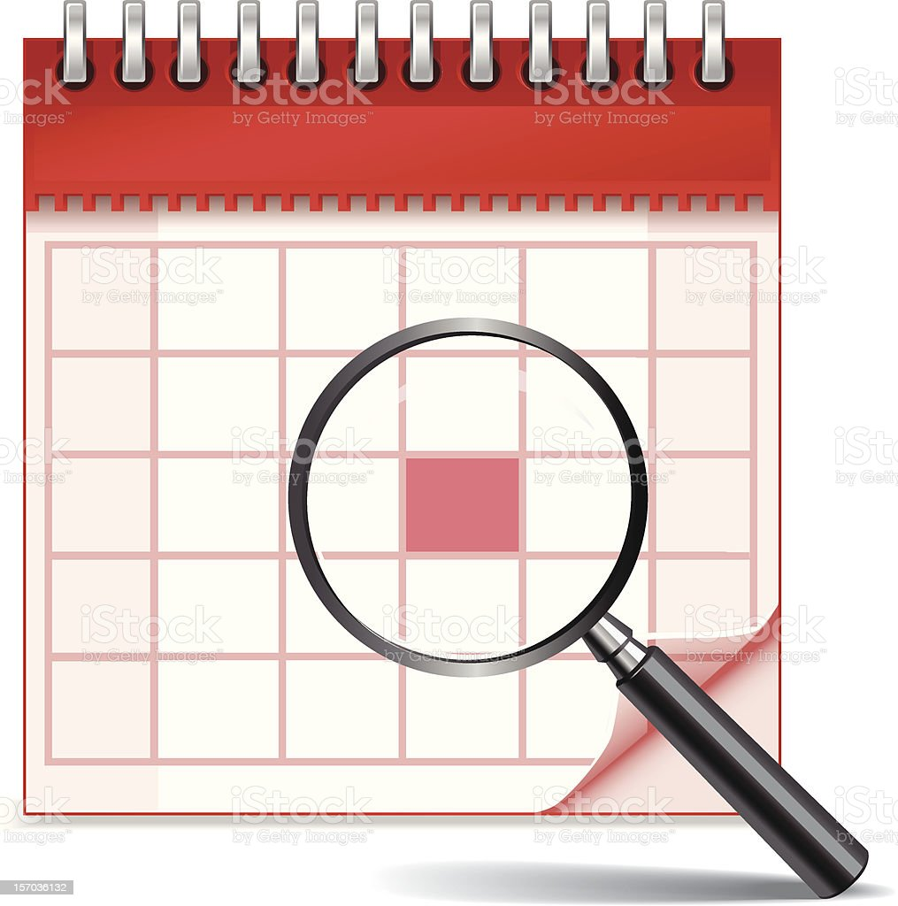 Calendar Planning royalty-free stock vector art