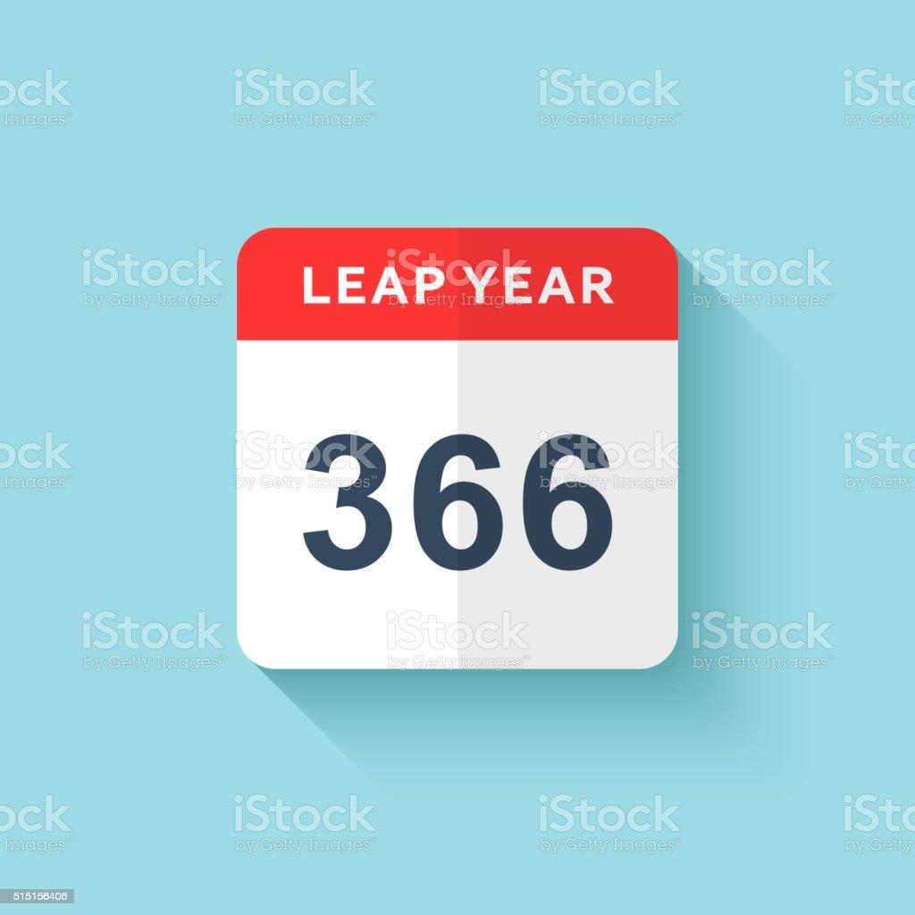 calendar style flat leap year 366 days calendars design 2016 stock