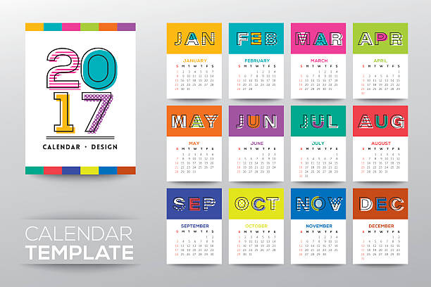 Graphic Design Calendar Templates : Calendar clip art vector images illustrations istock