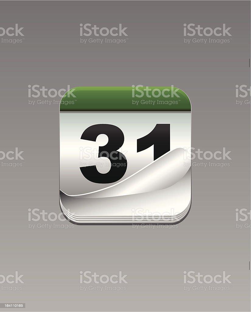 Calendar vector icon royalty-free stock vector art