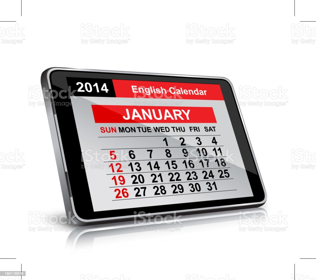 Calendar royalty-free stock vector art