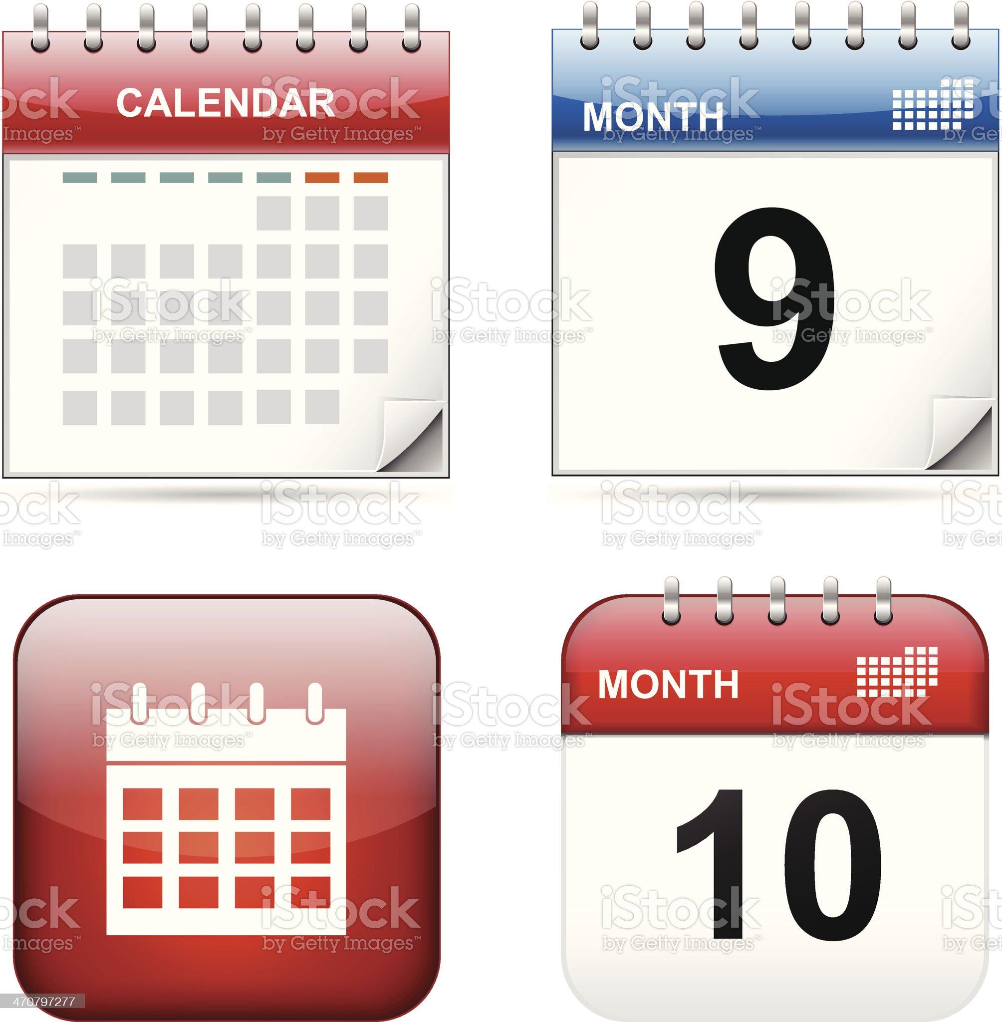 Calendar royalty-free stock vector art