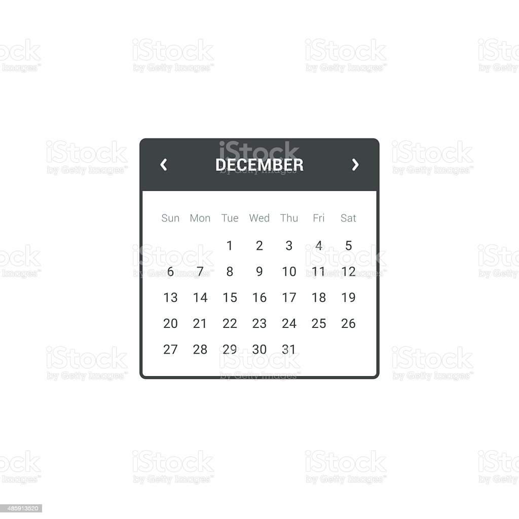 Calendar Widget vector art illustration