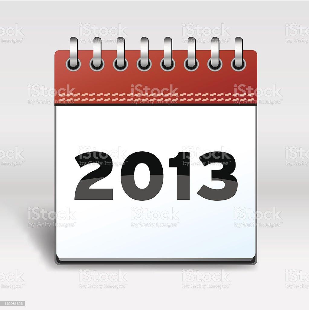 Calendar with 2013 vector art illustration