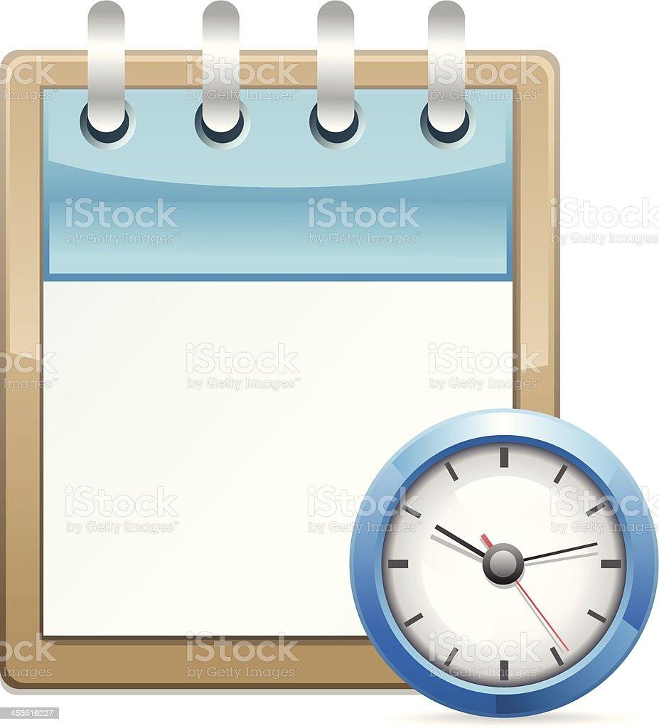 Calendar with Clock royalty-free stock vector art