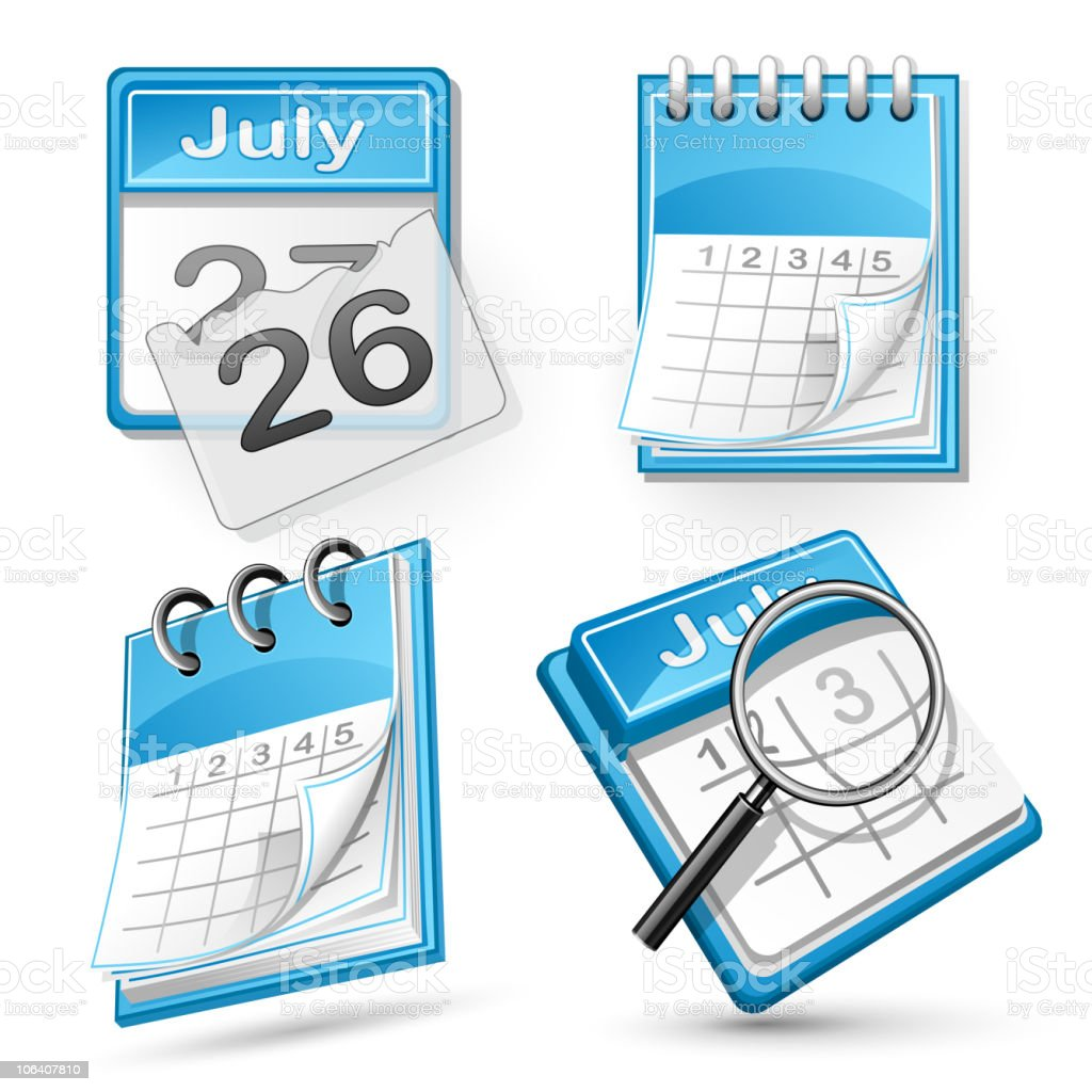 Calendars vector art illustration