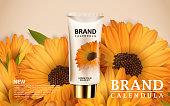 Calendula hand cream ads