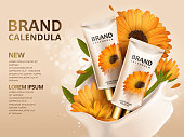 Calendula hand cream ads