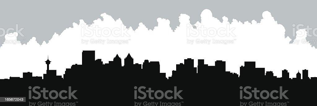Calgary Skyline Silhouette royalty-free stock vector art