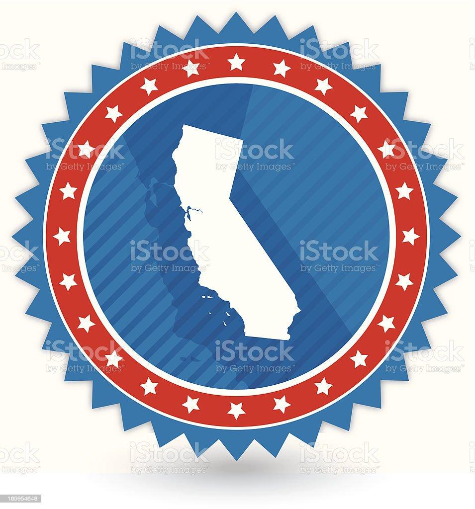 California Badge royalty-free stock vector art