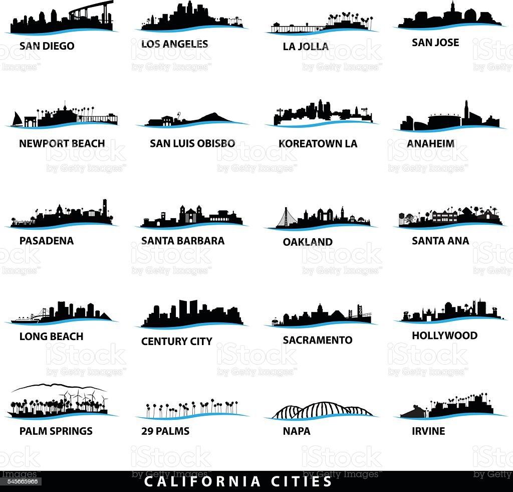 California Cityscape Designs vector art illustration