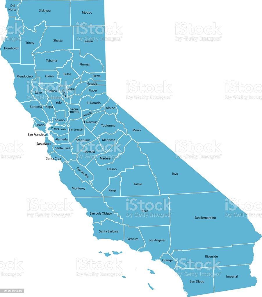 California Map vector art illustration